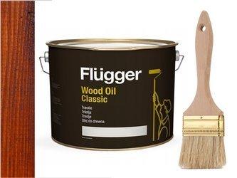 Flügger Wood Oil Classic olej do TARASU 3L TEAK