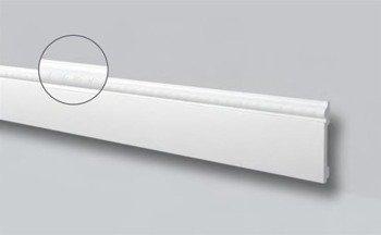 LISTWA PRZYPODŁOGOWA BIAŁA WALLSTYL FO1 120 x15 mm