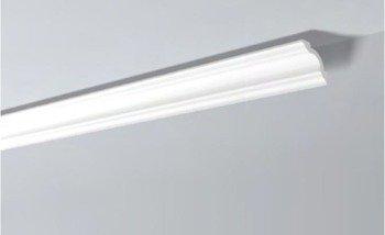 LISTWY PRZYSUFITOWE Białe NOMASTYL A1 80x80mm
