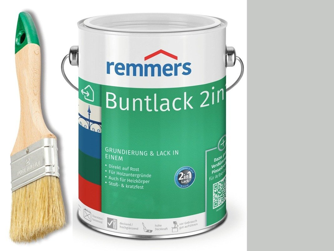 Farba renowacyjna grzejnik Remmers SZARY 0,75 L