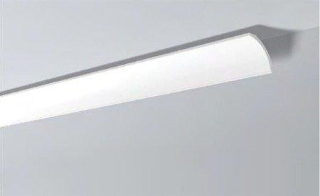 LISTWY PRZYSUFITOWE Białe NOMASTYL B8 82x82mm