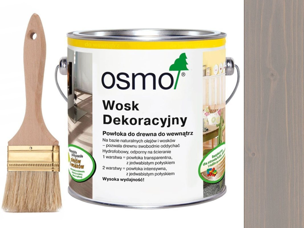 OSMO 3119 wosk dekoracyjny JEDWABISTY SZARY 25L