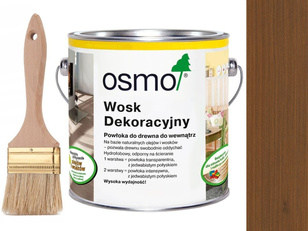 OSMO 3144 wosk dekoracyjny KOLOR LAPACHO 0,75L