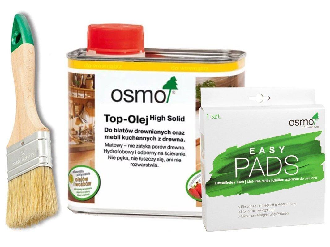 OSMO TOP olej do BLATÓW 3028 + EASY PADS + PĘDZEL